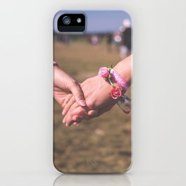 Women Holding Hands iPhone Case