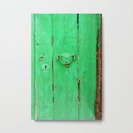 [mallorquin] ... the green door Metal Print
