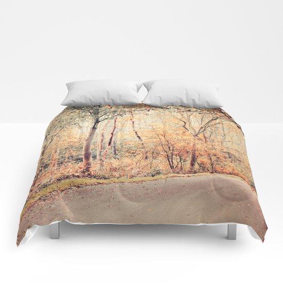 Autumn golden scenery Comforters