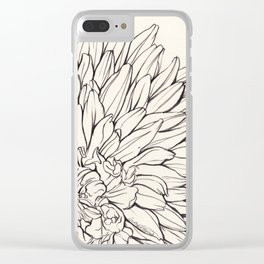Dahlia Ink illustration Clear iPhone Case