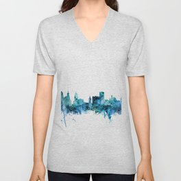 Buffalo New York Skyline Unisex V-Neck