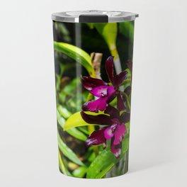 dark purple orchids Travel Mug