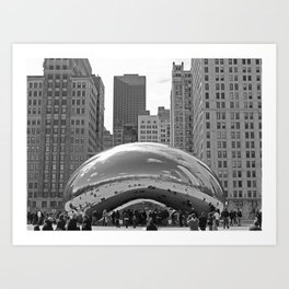 Chicago Clouds Art Print