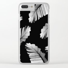 Tropical Gray White Banana Leaves Dream #2 #decor #art #society6 Clear iPhone Case