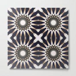 Chocolate Flower Mandala Pattern Metal Print