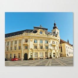 sibiu city hall romania architecture general view Canvas Print