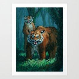 Tiger-bear Art Print