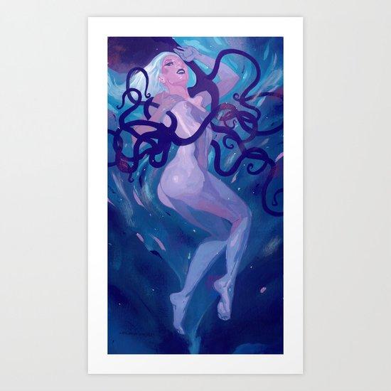 Octopus Queen Hannah  Art Print