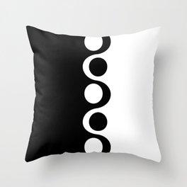 Black and White Mod Throw Pillow