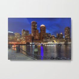 Bright Lights Boston Metal Print