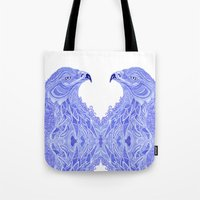 eagle Tote Bags featuring Eagle by Olya Goloveshkina