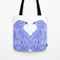 eagle Tote Bags featuring Eagle by Olya Goloveshkina