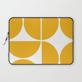 Mid Century Modern Yellow Square Laptop Sleeve