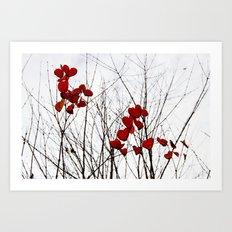 Love Leaves Art Print