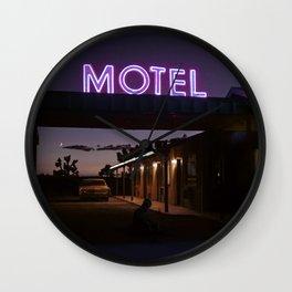 motel utopia Wall Clock