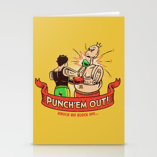 Punch'em Out Stationery Cards