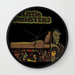 Monster Under Bed Wall Clock