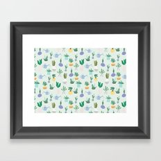 Plant pot Pattern Framed Art Print
