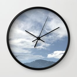 Green Mountain Flatirons in Boulder, Colorado Wall Clock