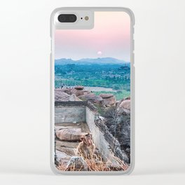 Sunset in the Lost World Clear iPhone Case