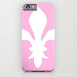Fleur de Lis (White & Pink) iPhone Case