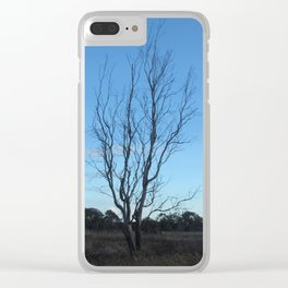 Bare Tree At Dusk Clear iPhone Case