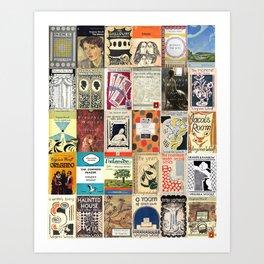 Virginia Woolf Book Covers Art Print