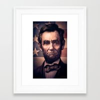 lincoln Framed Art Prints featuring Lincoln by Dominick Saponaro