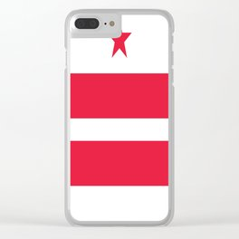 American cities-  Flag of  Washington city Clear iPhone Case