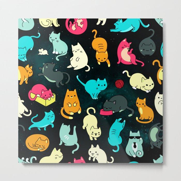 Kitty Space Metal Print