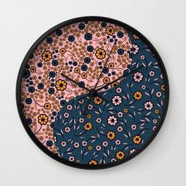Yin and Yang Florals Wall Clock