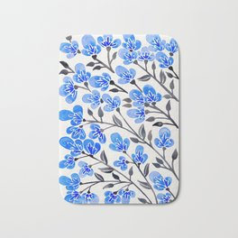 Cherry Blossoms – Blue Palette Bath Mat