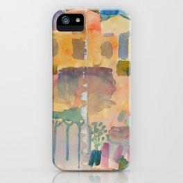 "Paul Klee ""Garden in St. Germain, The European Quarter Near Tunis 1914"" iPhone Case"