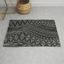 Black Sea | Tribal pattern Rug