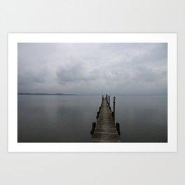 Lake Chiemsee In A Mist Art Print