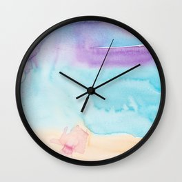 10    | Abstract Minimal Watercolor Painting | 191222 Wall Clock