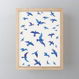 Blue Birds Framed Mini Art Print