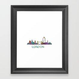 London UK Skyline HQ Framed Art Print