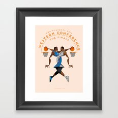 NBA PLAYOFFS 2014 - WESTERN CONFERENCE FINALS Framed Art Print
