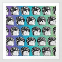 Minifigure Pattern - Cool Art Print