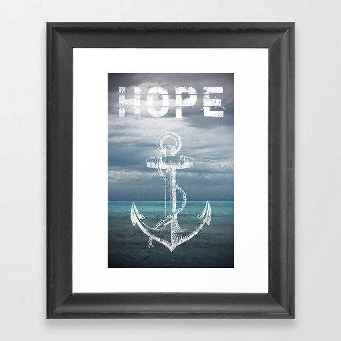 Hope Anchor Framed Art Print