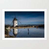 El molino salinero - The salt mill Art Print
