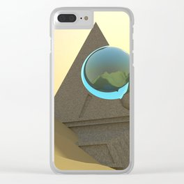 Science Fiction Desert Scene Clear iPhone Case