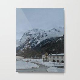 Schaukäserei and the Mountains Metal Print