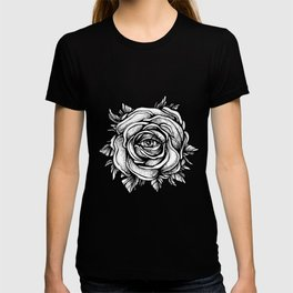 Black Rose flower With the eye T-shirt