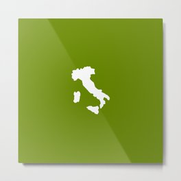 Shape of Italy 3 Metal Print