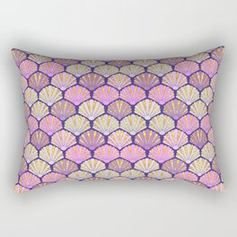 Seashell pink and lilac for mermaids Rectangular Pillow