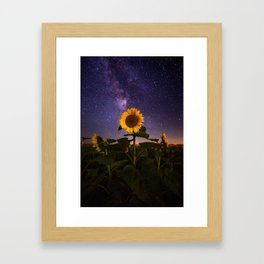 Galaxy Flowers Framed Art Print