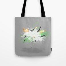 Dust-Ups: Soldier vs Alien Tote Bag