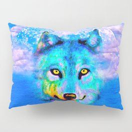 Wolf Moon and the Deep Blue Sea Pillow Sham